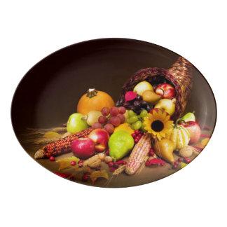 Autumn Cornucopia Porcelain Serving Platter
