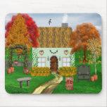 Autumn Cottage Mouse Pad