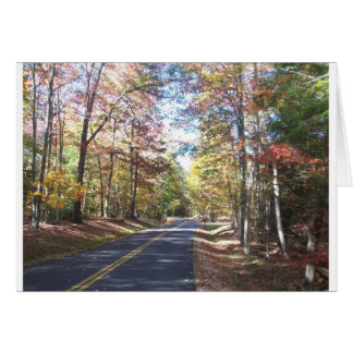 Autumn Country Road Card