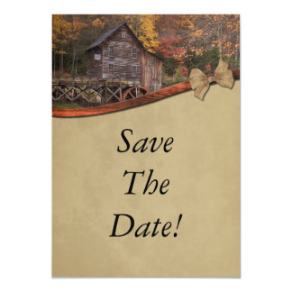Autumn Country Theme Save The Date Wedding Card