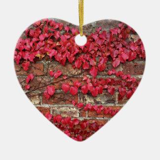 Autumn creepers ceramic heart decoration