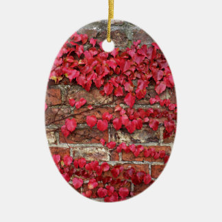 Autumn creepers ceramic oval decoration