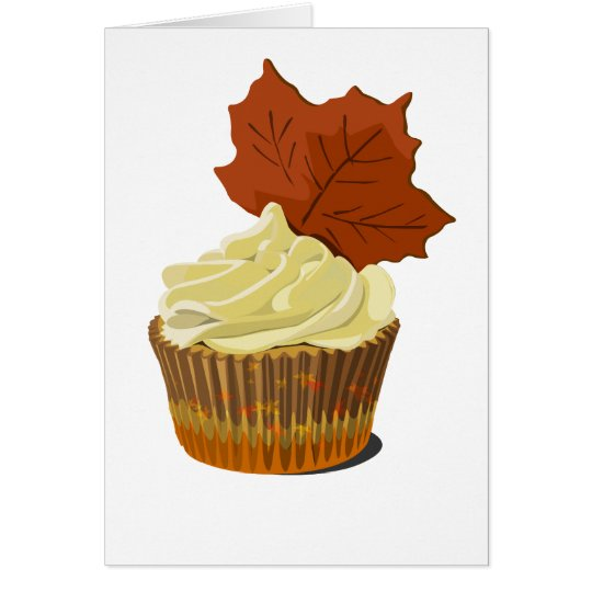 Autumn cupcake card