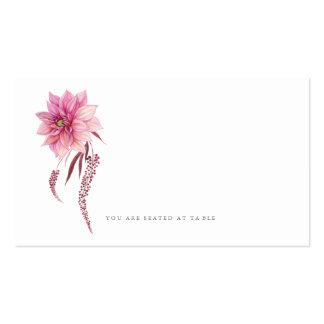Autumn Dahlias Watercolor Escort Card Pack Of Standard Business Cards