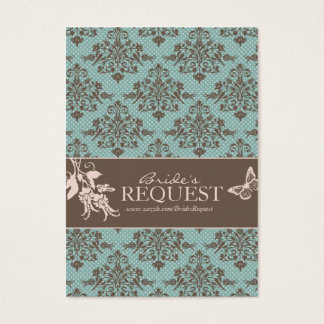 Autumn Damask Business Card