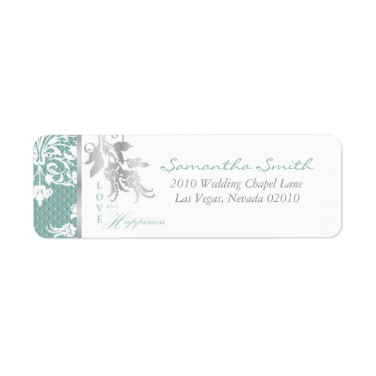 Autumn Damask_lilchi Return Label B Return Address Label