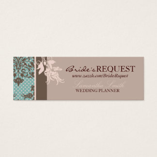 Autumn Damask Skinny Business Card