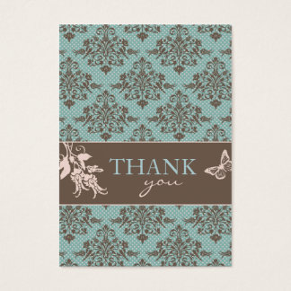 Autumn Damask TY Notecard C2