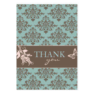 Autumn Damask TY Notecard C Pack Of Chubby Business Cards
