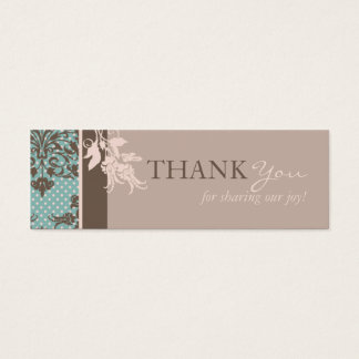 Autumn Damask TY Skinny Card