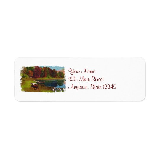 Autumn Day Return Address Labels