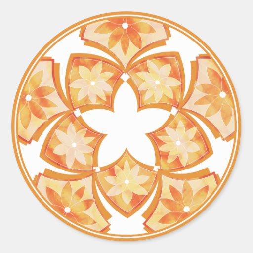 Autumn Decorative Floral Tiles Sticker