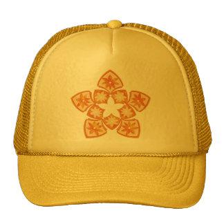 Autumn Decorative Floral Tiles Trucker Hat