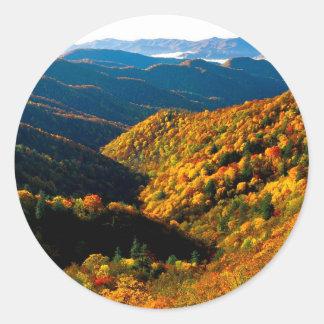 Autumn Deep Creek Valley Tennessee Sticker