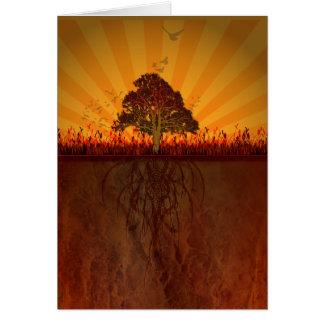 autumn design card