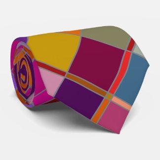 Autumn Design Checkered Tie