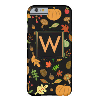 Autumn Design Monogrammed Barely There iPhone 6 Case
