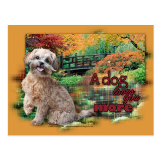Autumn - Dog Loves You More - Shihpoo - Maggie Postcard