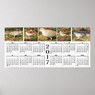 Autumn Dove 2017 Calendar Poster