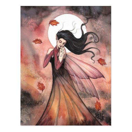 Autumn Dreams Gothic Fairy Fantasy Art Postcards