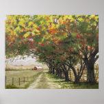 Autumn driveway print