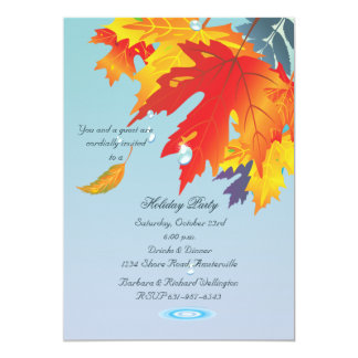 Autumn Drizzle Invitation