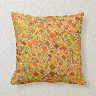 Autumn Echo Tiled Artwork Design Throw Cushions