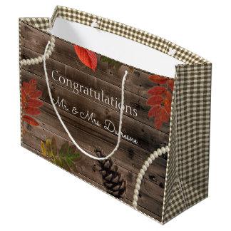Autumn Elegance Rustic Wedding Large Gift Bag