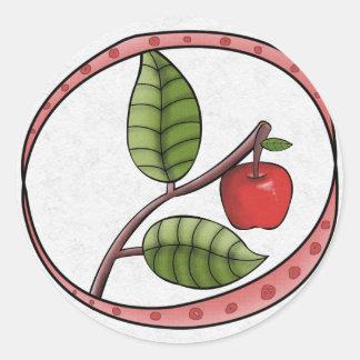 Autumn Envelope Sealer Round Stickers