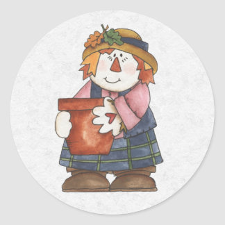 Autumn Envelope Sealer Round Sticker