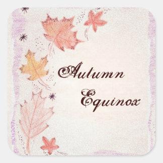 Autumn Equinox Autumn Leaves Mabon Harvest Home Square Sticker