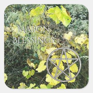 Autumn Equinox Grapevine Mabon Harvest Home Square Sticker