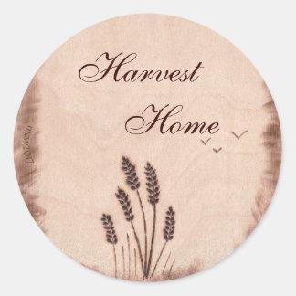 Autumn Equinox Mabon Harvest Home Rustic Field Classic Round Sticker