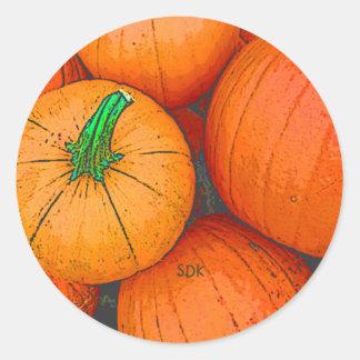 Autumn Equinox Pumpkin Harvest Festival Round Sticker