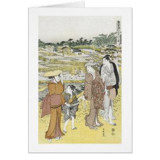Autumn Excursion, Shuncho, 1770 Greeting Card
