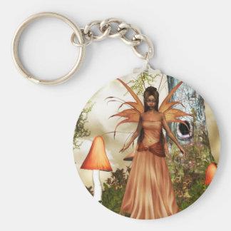 Autumn Fae Basic Round Button Key Ring