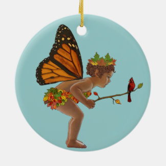 Autumn Fairy Christmas Ornament