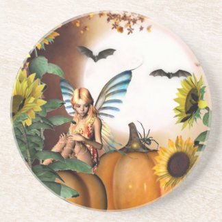 Autumn fairy garden Coaster