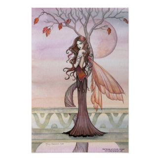 Autumn Fairy Poster by Molly Harrison