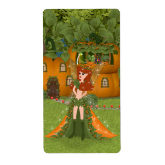 Autumn Fairy Pumpkin Cottage Shipping Label