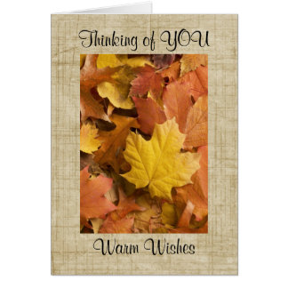Autumn Fall Collection Golden Leaves Greeting Card