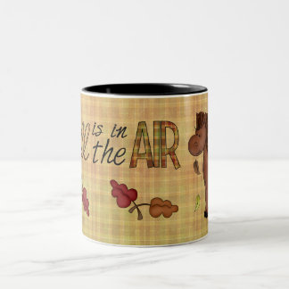 Autumn Fall Collection Leaves Horse Coffee Cup Two-Tone Mug