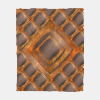 Autumn Fall Geometrical Cooper Brown Fleece Blanket