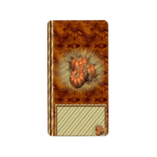 Autumn Fall Hershey Miniature Candy Wrapper Label