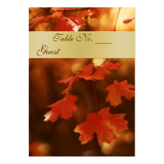 Autumn Fall Leaf Wedding Table Setting PlaceCard Business Card Templates