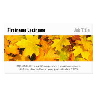 Autumn Fall Leaves Pack Of Standard Business Cards
