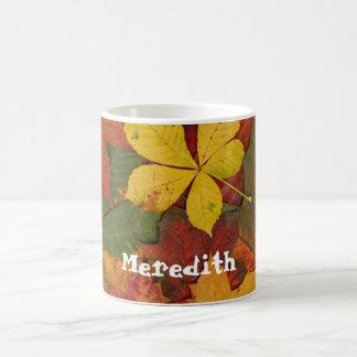 Autumn Fall Leaves Custom Coffee Mug Cup