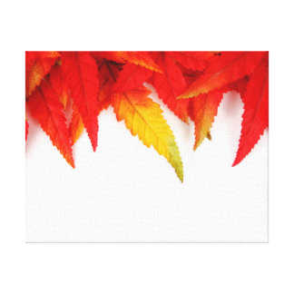 Autumn/Fall Leaves Fire Colors Canvas