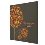 Autumn Fall Leaves Pop Tree Family Canvas Print