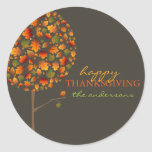 Autumn Fall Leaves Pop Tree Thanksgiving Stickers